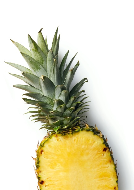 Juicy fresh pineapple