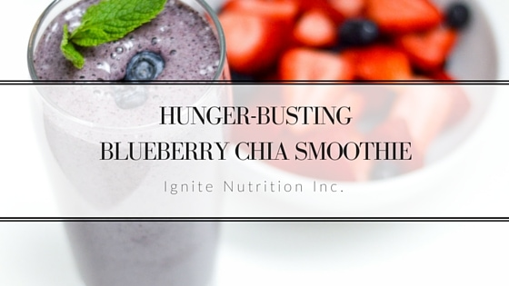 Hunger Busting BlueBerry Chia Smoothie
