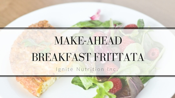 Make Ahead Breakfast Frittata