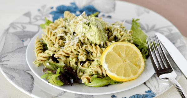 Avocado Pesto Pasta Featured Image
