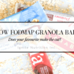 Low Fodmap Granola Bars | Ignite Nutrition Inc. Andrea Hardy Registered Dietitian Nutritionist IBS Expert