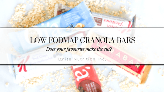 Low FODMAP Granola Bars