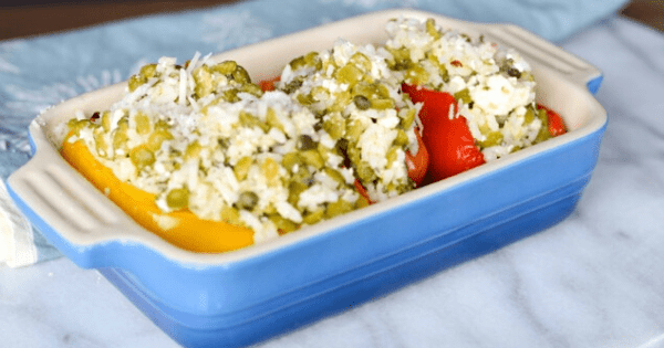 Mediterranean Lentil-Stuffed Peppers Featured Image