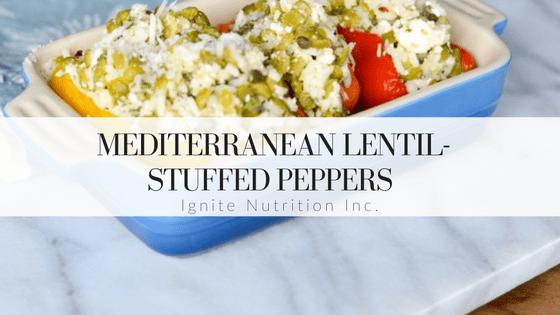 Mediterranean Lentil Stuffed Peppers