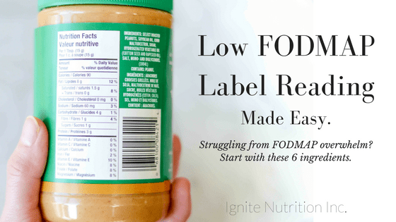 Low FODMAP Label Reading Made Easy.