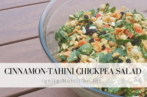 Cinnamon Tahini Chickpea Salad