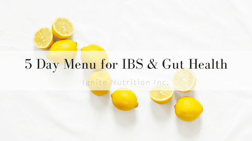 5 day menu for IBS & gut health Featured Image