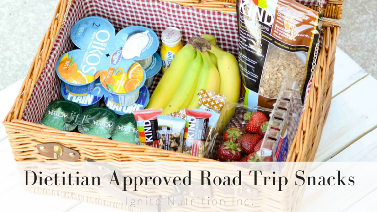 Dietitian approved road trip snack ideas - a list that is super simple, and that the whole family will love - along with tips to make the healthiest choice, the easiest choice!   Andrea Hardy, registered dietitian nutritionist from Calgary Alberta live on breakfast television