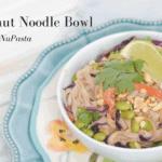 Thai Peanut Noodle Bowl with Fettuccine NuPasta