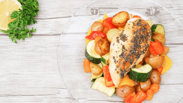 Low FODMAP Lemon Herb Chicken with Garden Vegetables Featured Image