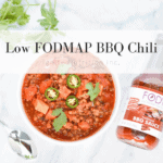 Low FODMAP BBQ Chili featuring FODY Foods AMAZING low FODMAP BBQ sauce | Low FODMAP recipe created by Ignite Nutrition's Registered Dietitian Nutritionist Andrea Hardy, gut health expert and named top 10 dietitians in Calgary, Alberta Canada