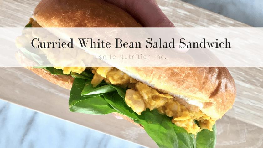 Curried White Bean Salad Sandwich