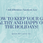 Let's talk about how to keep your gut healthy and happy over the holiday season. Those with IBS know how hard it is to manage symptoms over the holidays. I give my top 5 tips on exactly how to manage your symptoms and enjoy the holiday season without stress! | Andrea Hardy registered dietitian and gut health expert from Calgary Alberta