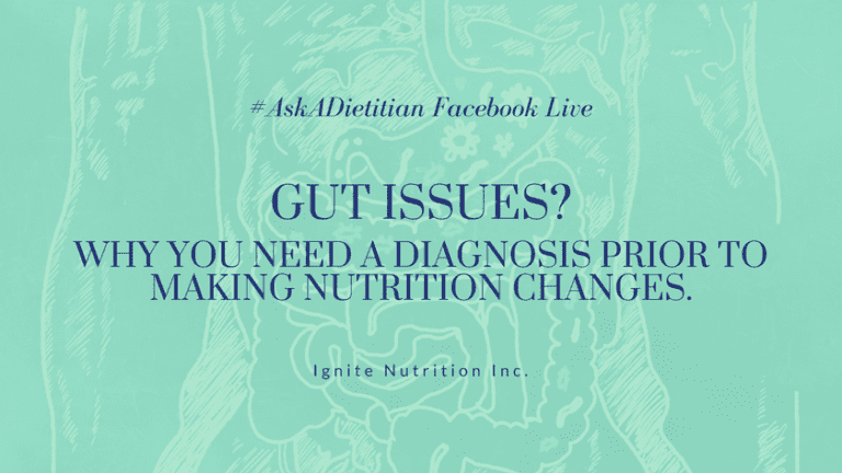 This week on #AskADietitian live, I cover why you NEED a diagnosis prior to making nutrition changes! | Andrea Hardy is a registered dietitian nutritionist based in Calgary Alberta. She is named top 10 dietitians in calgary and specializes in gastrointestinal illness, PCOS, and food relationship.