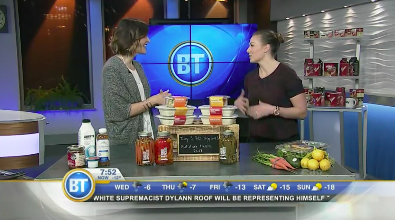 Andrea Hardy, Calgary's top 10 dietitians - talks live on Breakfast Television Calgary about her TOP Nutrition Trends for the Year!