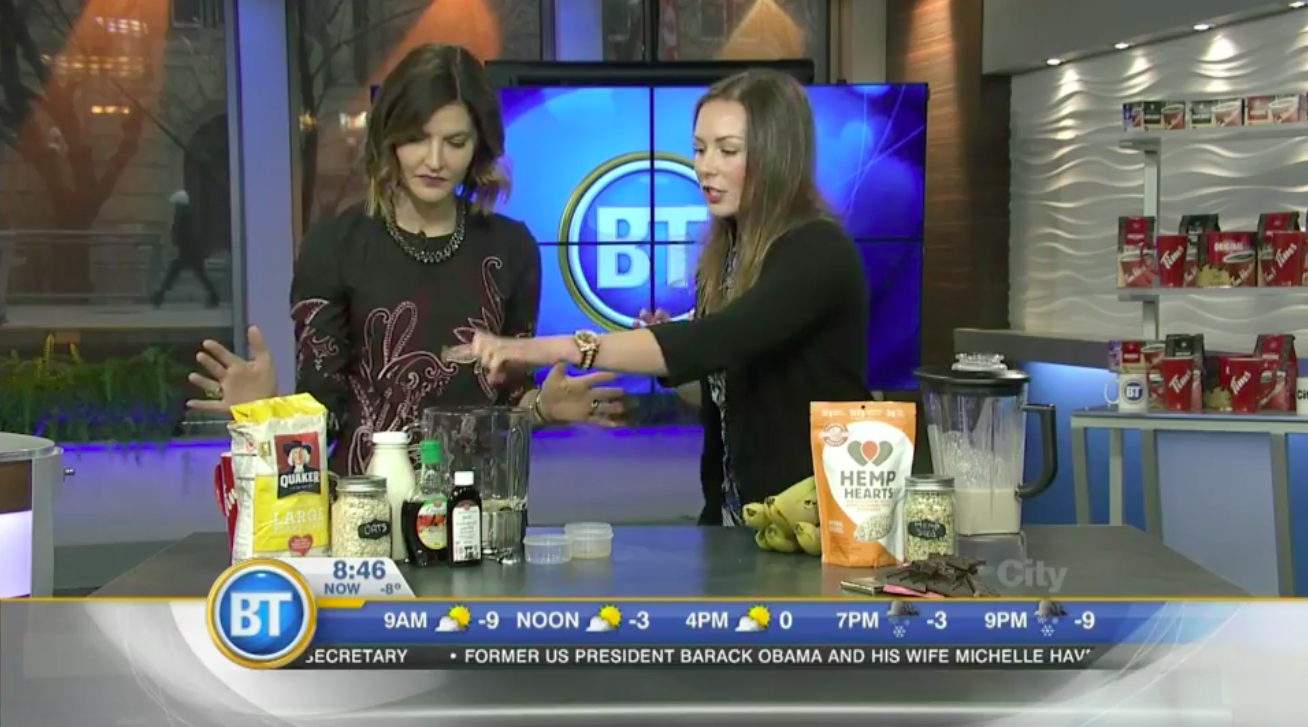 Andrea Hardy, Calgary's top 10 dietitians is live on Breakfast Television Calgary talking about how foods can fight stress!