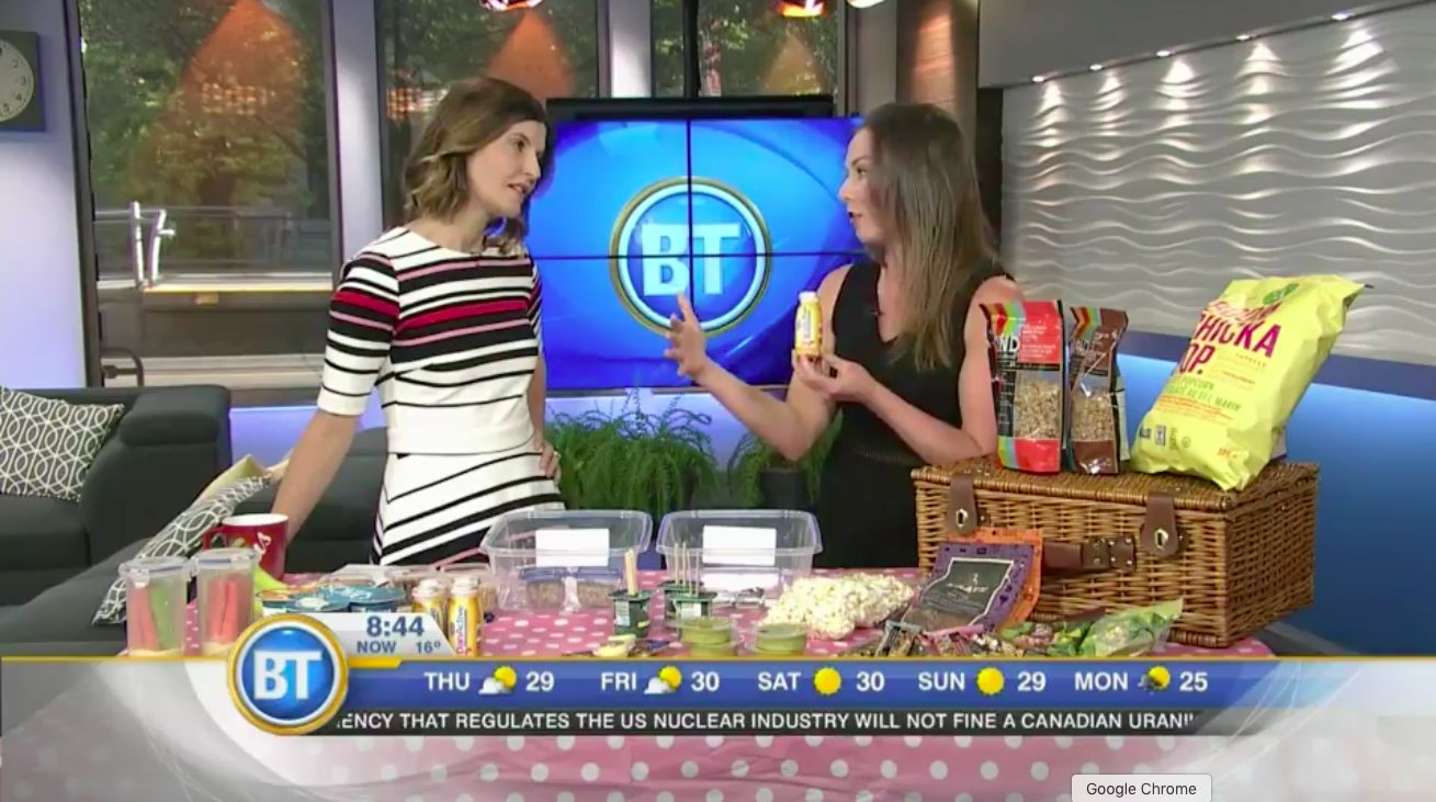 Andrea Hardy, Calgary's top 10 dietitians talks smart summer snacking on Breakfast Television Calgary!