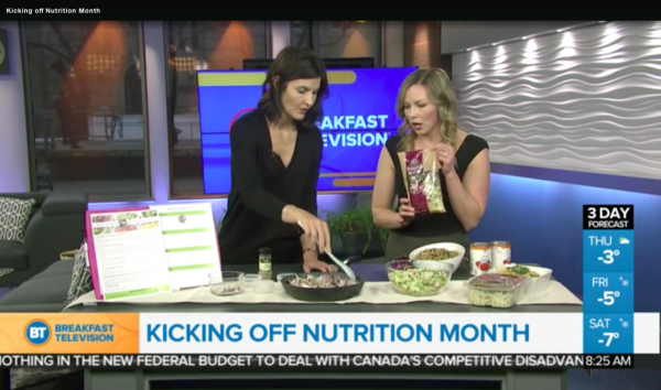 Registered Dietitian Andrea Hardy is LIVE on Breakfast Television Calgary to talk Nutrition Month 2018