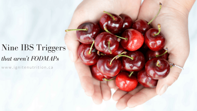 Did you know - there are things that can trigger your IBS that aren't FODMAP's? Andrea Hardy, Calgary IBS dietitian nutritionist and Canada's gut health expert explains the top non-FODMAP IBS triggers she sees in her practice, and how to manage them!