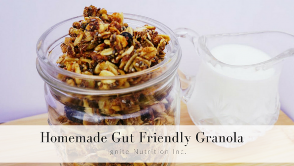 gut friendly granola recipe from Ignite Nutrition - gut health and IBS dietitian experts in Calgary Alberta and virtually!