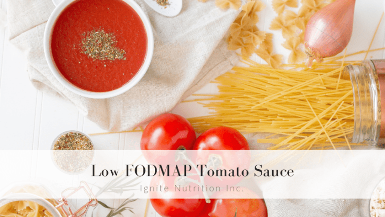 Ignite Nutrition, Andrea Hardy, YYC, Calgary, Tomato Sauce, Low-Fodmap, Nutrition, Pasta Sauce,