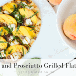 Peach and Prosciutto Grilled Flatbread