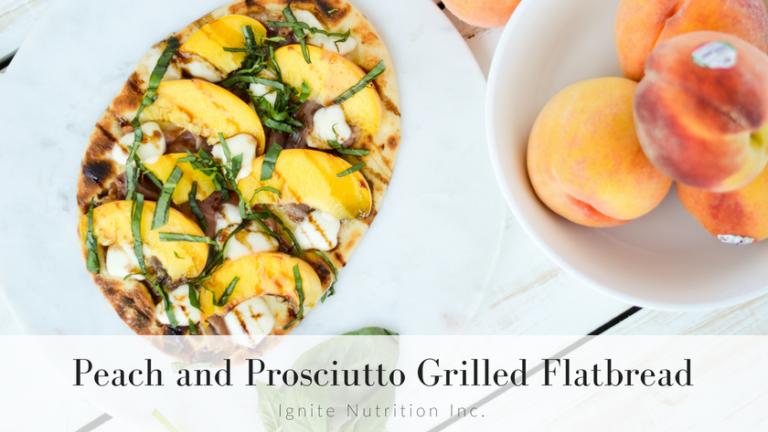 Peach and Prosciutto Grilled Flatbread
