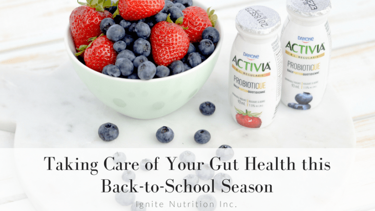 Taking Care of Your Gut Health this Back-to-School Season Activia Probiotic Drink - Andrea Hardy, Calgary Registered Dietitian Nutritionist talks gut health!