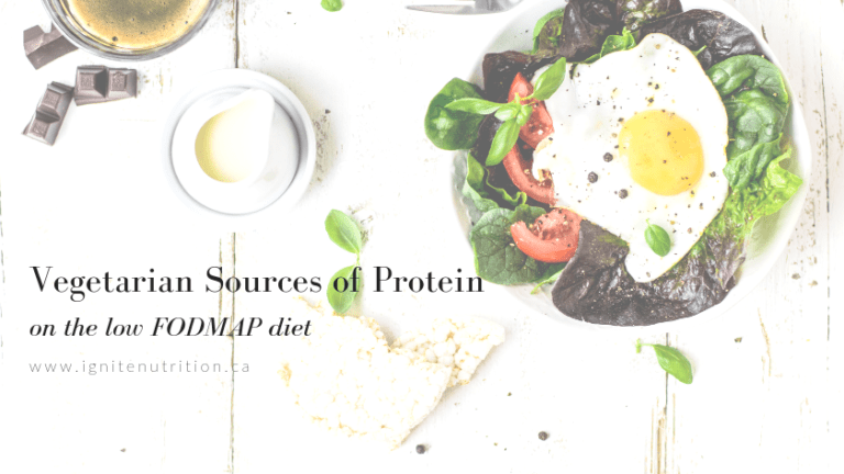 Vegetarian sources of protein on the low FODMAP diet - tips and tricks for plant based sources of protein on a low FODMAP, IBS diet by Calgary gut health dietitians