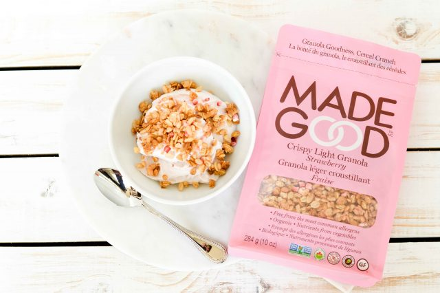 Looking for allergy friendly snacks? MadeGood is top 8 allergen free - perfect for the 6 food elimination diet! We love their Crispy Light Granola in Strawberry Flavour! Learn more about other allergy friendly snacks from top dietitians in Calgary specializing in digestive disorders!
