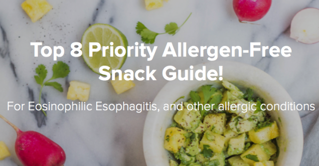So we've taken the 'think' out of Top 8 Priority Allergen-Free snacking! Our snack guide has no: Dairy Wheat Eggs Soy Fish or Shellfish Peanuts or Treenuts.