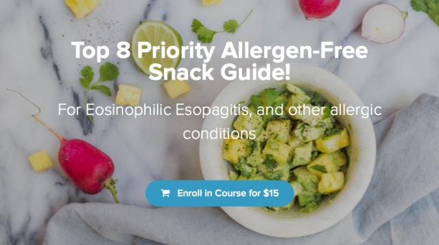 Top 8 Priority Allergen Free or 6 Food Elimination Diet Snack Guide from Calgary Registered Dietitian Nutritionist and digestive health experts - specialized in allergies, intolerances, celiac, eosinophilic esophagitis and more!