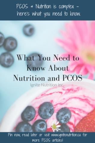 PCOS Nutrition and Dietitians Calgary - exactly what you need to know prior to making nutrition changes when diagnosed with PCOS. Fertility nutrition, nutrition for hormones, and PCOS nutrition - work with one of our dietitian experts today!