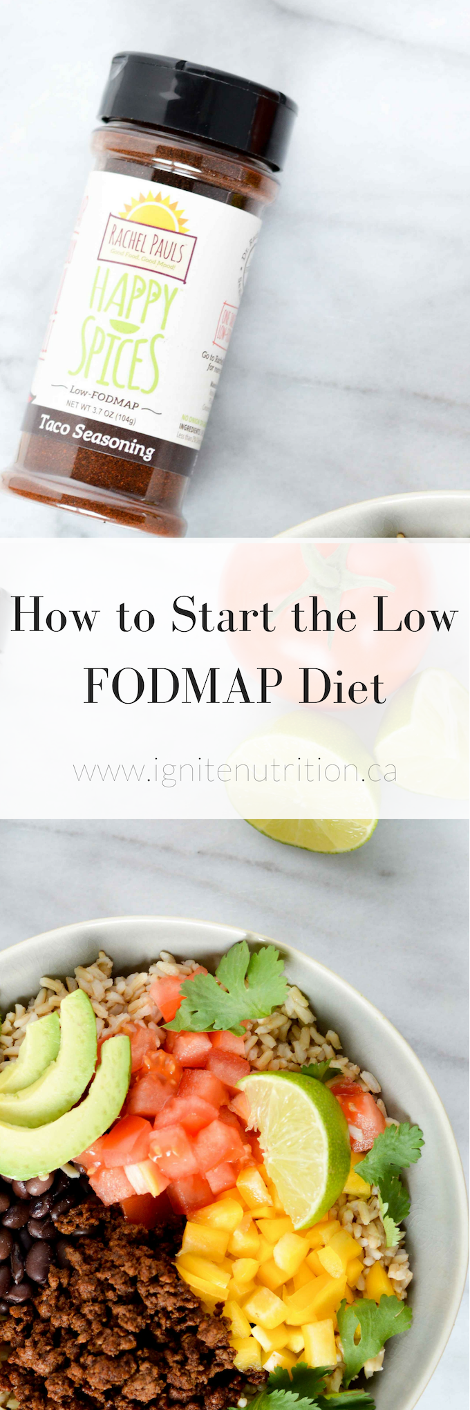 starting the low FODMAP diet can be overwhelming. Learn how to start - without the stress - with these 5 top tips to implement an IBS diet - Andrea Hardy is a registered dietitian and gut health expert from Calgary Alberta