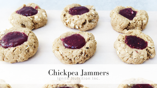 These good for your gut Chickpea Jammer cookies were developed by Ignite Nutrition's dietetics student, Nancy! We specialize in digestive health, and this cookie is definitely great for your gut microbiota!