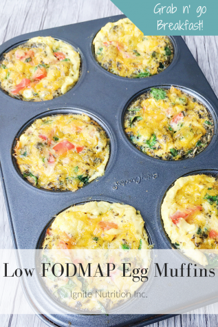 Low FODMAP egg muffins are quick, easy and freeze well! Created by Ignite Nutrition's registered dietitians and gut health experts.
