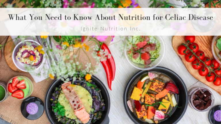 Our dietitians at Ignite Nutrition in Calgary specialize in gut health & digestive disorders. If you have celiac disease visit www.ignitenutrition.ca to work with one of our top registered dietitians today.