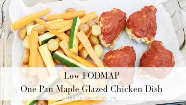low FODMAP one pan maple Glazed Chicken Dish - super simple easy weeknight recipe!