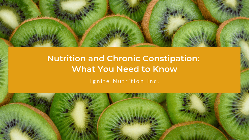Dealing with chronic constipation? Our registered dietitians at Ignite Nutrition in Calgary can show you how nutrition can help.