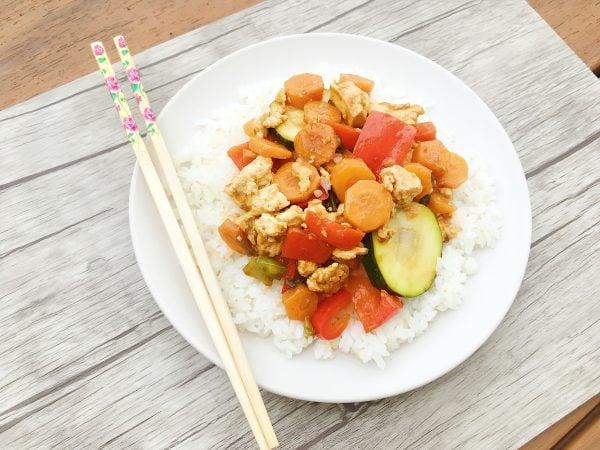Low FODMAP Lemon Teriyaki Tofu Stir Fry Featured Image