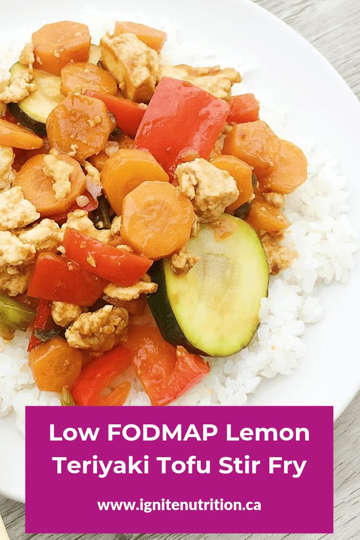 Low FODMAP Lemon Teriyaki Tofu Stir fry