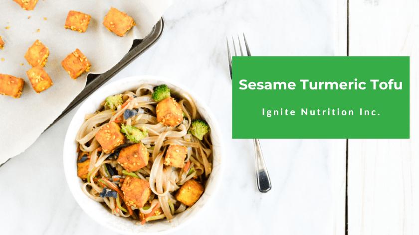Sesame Turmeric Tofu