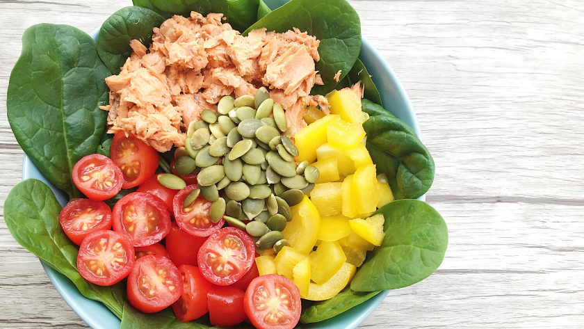 Low-FODMAP Simple Salmon Salad Featured Image