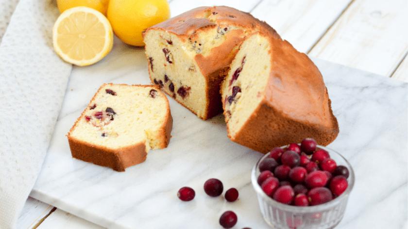 Low FODMAP Cranberry Lemon Loaf