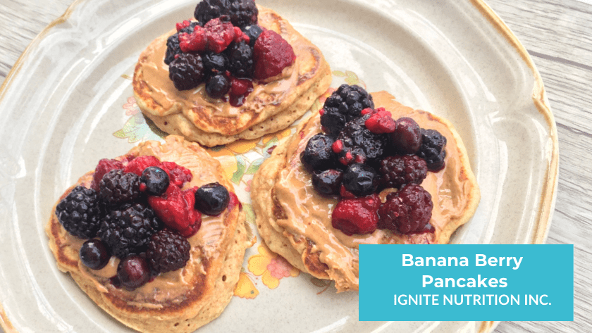 These simple healthy banana berry pancakes make for a wholesome breakfast!