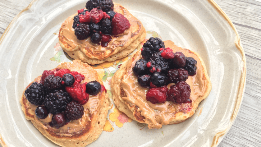 Banana Berry Pancakes Featured Image