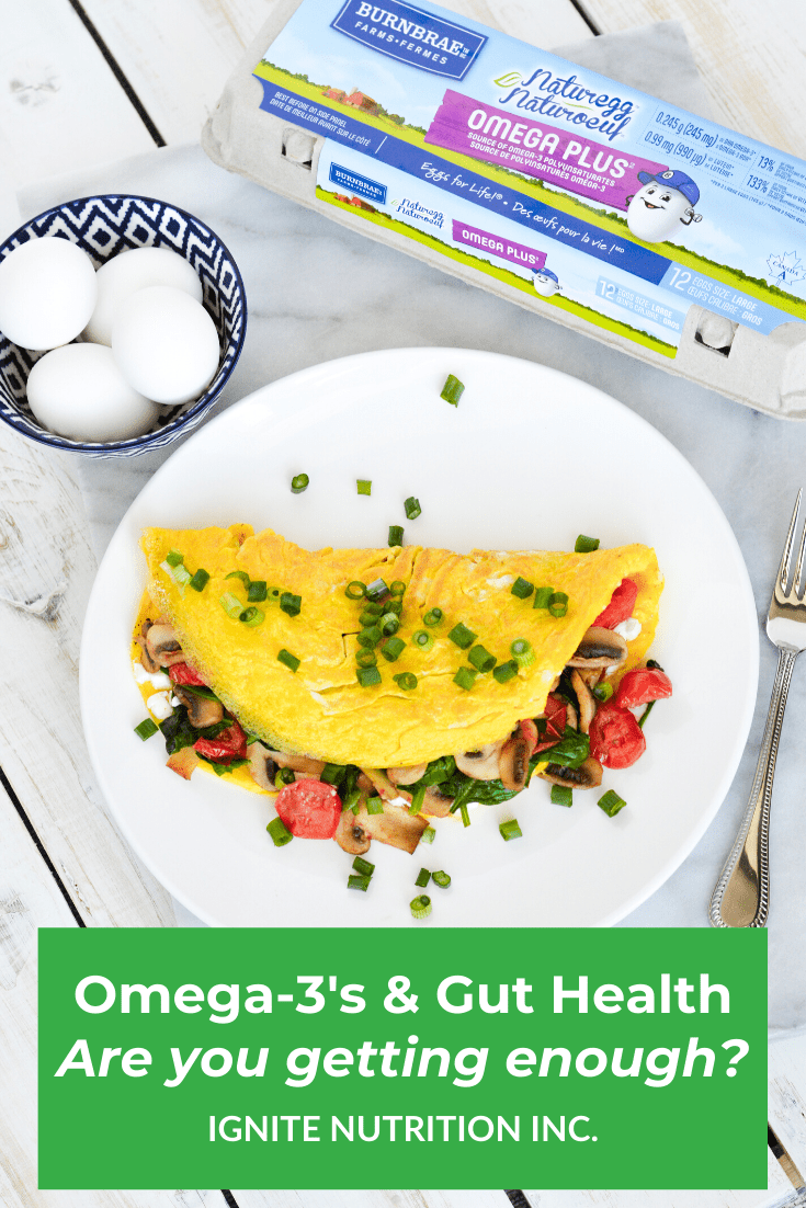 Some studies suggest omega-3's may have beneficial impacts on the gut. Learn why omega-3's are important, and now Burnbrae Farm's Omega-3 eggs can help you meet your daily needs, with Andrea Hardy, registered dietitian and gut health expert