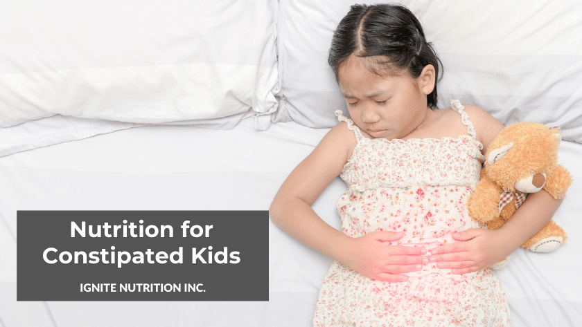 Do you have a child struggling with constipation? Our paediatric dietitian discusses constipation in children and how nutrition can help!