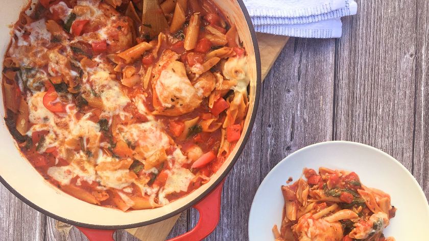 Low FODMAP Chicken Pasta Casserole Featured Image
