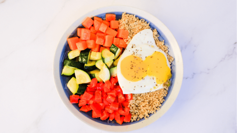 This super simple low FODMAP lunch utilizes leftovers for a quick 'whip together' 5 minute lunch - Ignite Nutrition Calgary registered dietitians
